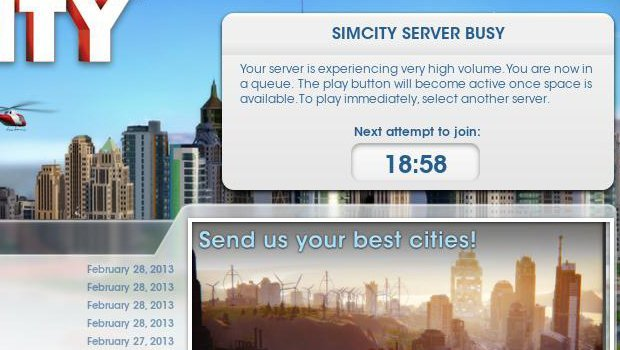 Simcity server issues