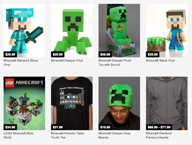 Minecraft store merch