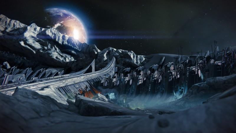 destiny moon empty earth