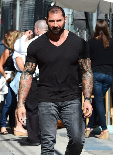 Dave Bautista Arrives to Jimmy Kimmel Live