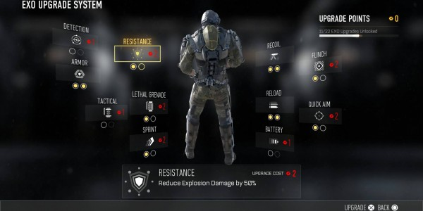 Call of duty advanced warfare level up SP