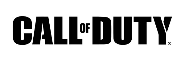 Call of Duty series logo BW