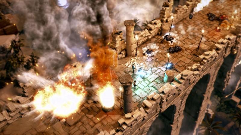 Lara Croft and the Temple of Osiris Bridge Battle