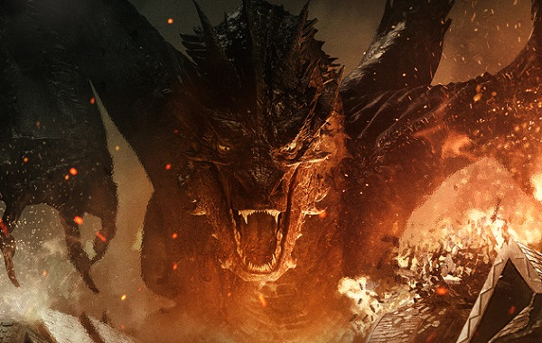 the hobbit battle of the five armies - smaug