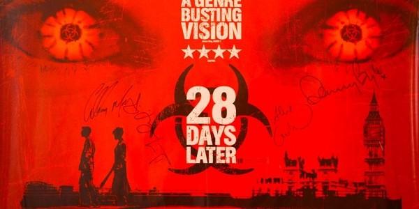 28 Days Later cast signed Quad