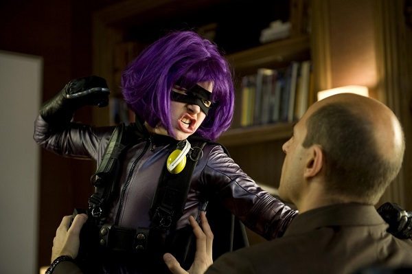 hit girl punching damico