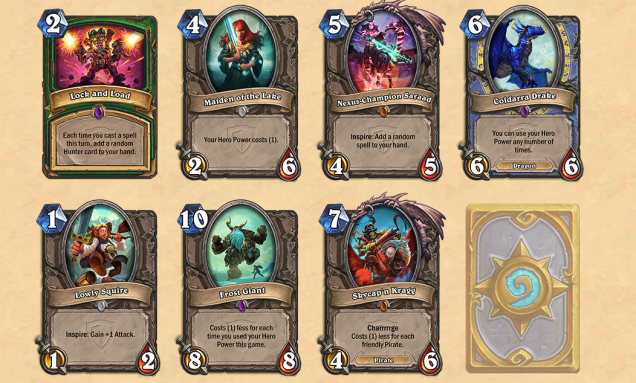 Hearthstone new expansion cards