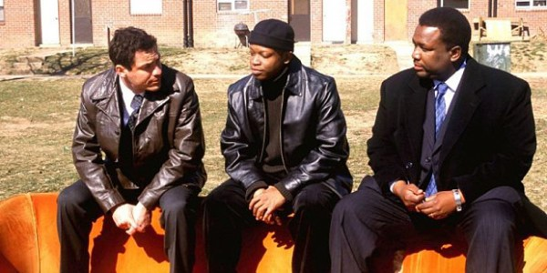 VARIOUS TV PROGRAMMES...Mandatory Credit: Photo by Everett Collection / Rex Features ( 425089f )  DOMINIC WEST, LARRY GILLARD JNR AND WENDELL PIERCE IN 'THE WIRE' - 2002  VARIOUS TV PROGRAMMES