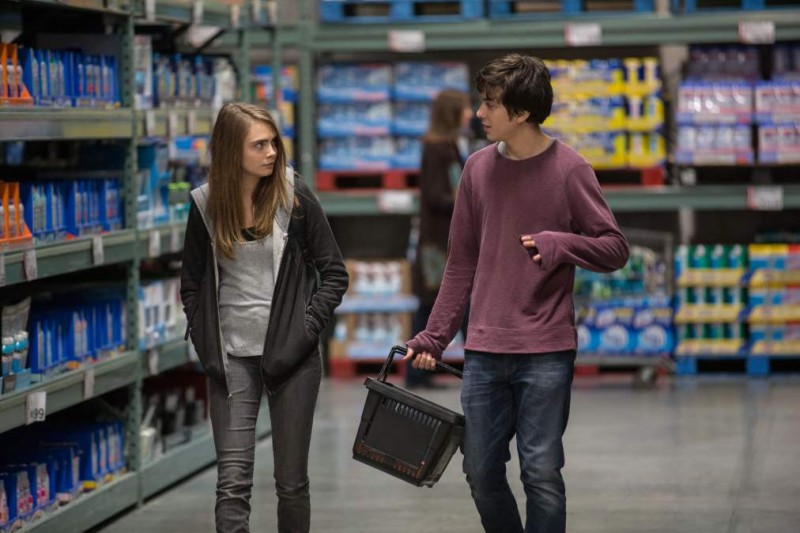 DF-11873 Margo (Cara Delevingne) and Quentin (Nat Wolff) enjoy an unforgettable evening together. Photo credit: Michael Tackett