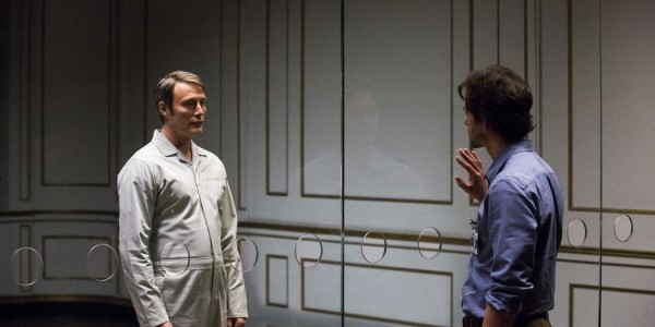 "HANNIBAL -- ""The Wrath of the Lamb"" Episode 313 -- Pictured: (l-r) Mads Mikkelsen as Hannibal Lecter, Hugh Dancy as Will Graham -- (Photo by: Brooke Palmer/NBC)"