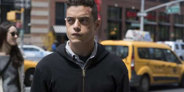 "MR. ROBOT -- ""d3bug.mkv"" Episode 103 -- Pictured: Rami Malek as Elliot -- (Photo by: Virginia Sherwood/USA Network)"