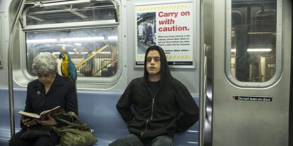 "MR. ROBOT -- ""wh1ter0se.m4v"" Episode 108 -- Pictured: Rami Malek as Elliot Alderson -- (Photo by: David Giesbrecht/USA Network)"