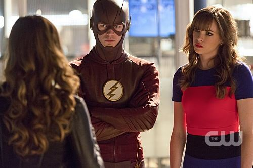 Lisa Snart (Golden Glider), Barry Allen, Caitlin Snow - The Flash