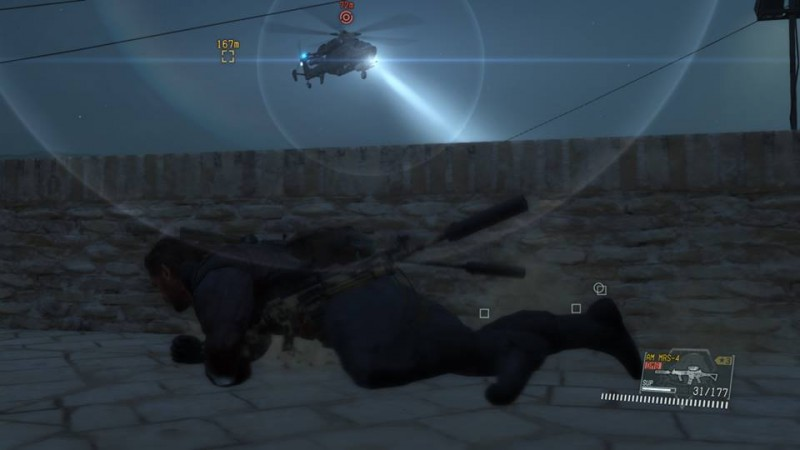 MGS V sneaking helicopters