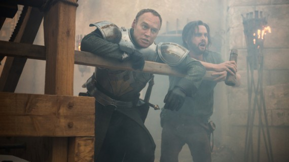 Elliot Cowan as Lorenzo Medici and Tom Riley as Leonardo da Vinci. Photo by Starz.