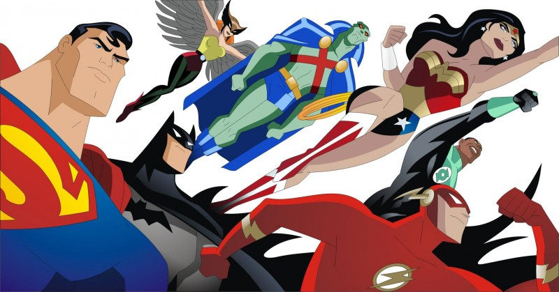 Superman, Batman, Martian Manhunter, Hawkgirl, Wonder Woman, Green Lantern, The Flash - Justice League