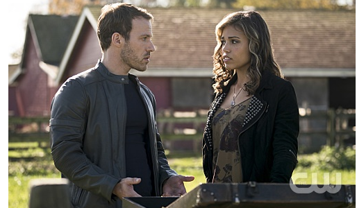 "Arrow -- ""Legends of Yesterday"" -- Image AR408A_0040b.jpg -- Pictured (L-R): Falk Hentschel as Carter Hall and Ciara Renee as Kendra Saunders -- Photo: Katie Yu/ The CW -- © 2015 The CW Network, LLC. All Rights Reserved."