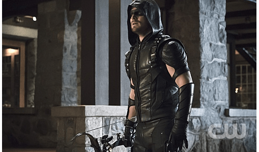 "Arrow -- ""Blood Debts"" -- Image AR410a_0249b.jpg -- Pictured: Stephen Amell as The Arrow -- Photo: Katie Yu/ The CW -- © 2015 The CW Network, LLC. All Rights Reserved."