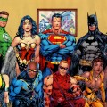 Green Lantern, Hawkgirl, Black Lightning, Wonder Woman, Superman, Black Canary, Vixen, Batman, Red Arrow, Red Tornado - Justice League
