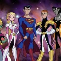 Phantom Girl, Saturn Girl, Braniac 5, Superman, Lightning Lad, Timber Wolf, Bouncing Boy - Legion of Superheroes