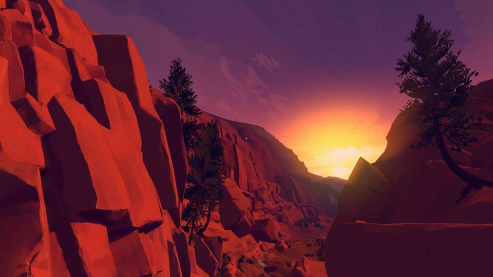 Firewatch valley sunse