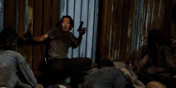 Steven Yeun as Glenn Rhee- The Walking Dead _ Season 6, Episode 9 - Photo Credit: Gene Page/AMC