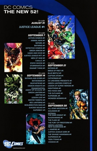 dc new 52 title list - rebirth