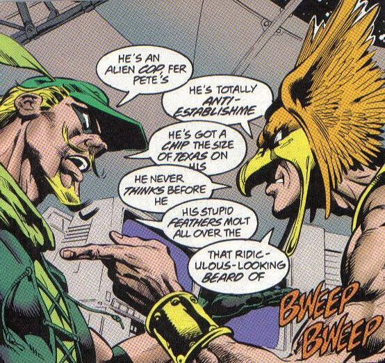 green arrow hawkman rivalries
