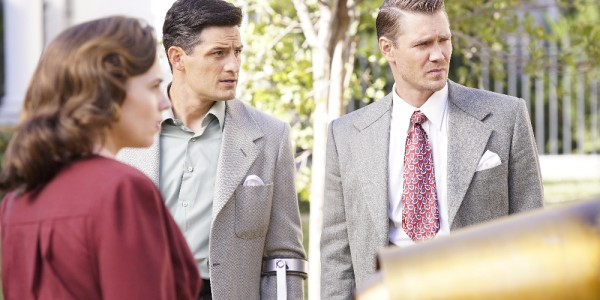 "MARVEL'S AGENT CARTER - ""Hollywood Ending"" - Peggy needs Howard Stark to eliminate Zero Matter as they are faced with a mission none of them could come back from, on the season finale of ""Marvel's Agent Carter,"" TUESDAY, MARCH 1 (9:00-10:00 p.m. EST) on the ABC Television Network. (ABC/Kelsey McNeal) HAYLEY ATWELL, ENVER GJOKAJ, CHAD MICHAEL MURRAY"