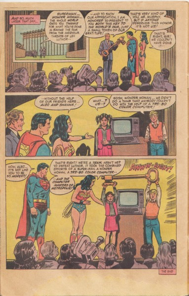 Superman Wonder Woman Radio Shack i4