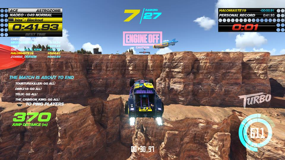 Trackmania turbo cliff fly