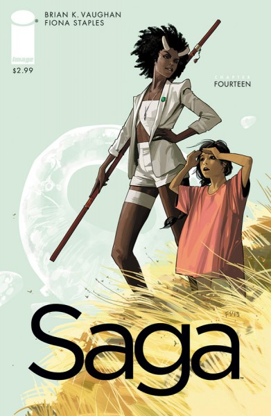 Saga #14 cover creative teams