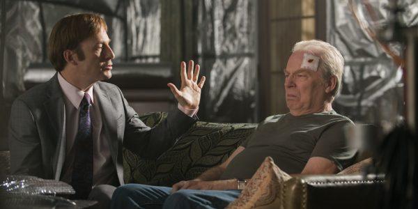 Bob Odenkirk as Jimmy McGill, Michael McKean as Chuck McGill - Better Call Saul _ Season 2, Episode 10 - Photo Credit: Ursula Coyote/AMC