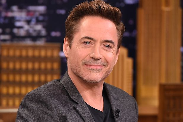 "NEW YORK, NY - APRIL 27: Robert Downey Jr. Visits ""The Tonight Show Starring Jimmy Fallon"" at Rockefeller Center on April 27, 2015 in New York City. (Photo by Theo Wargo/NBC/Getty Images for ""The Tonight Show Starring Jimmy Fallon"")"