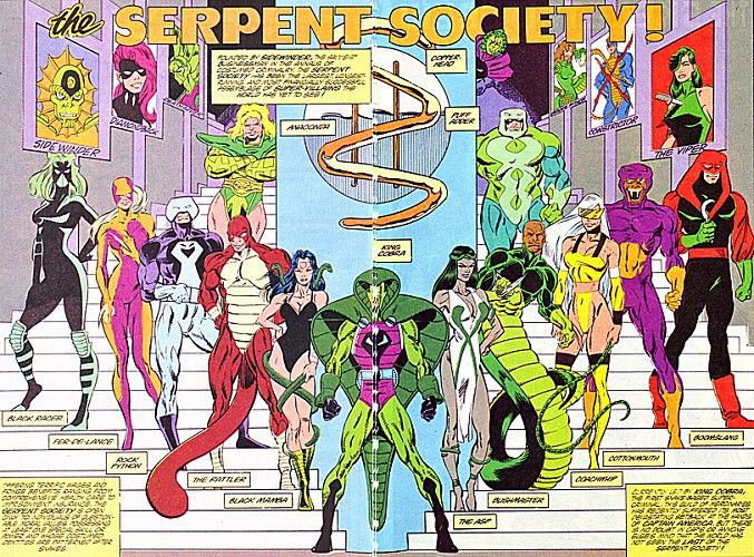 Serpent Society - Captain America villains