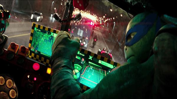 teenage mutant ninja turtles - leo in the van