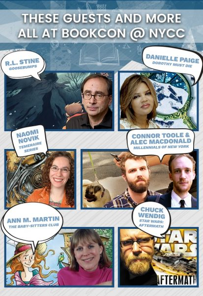 BookCon authors - New York Comic Con