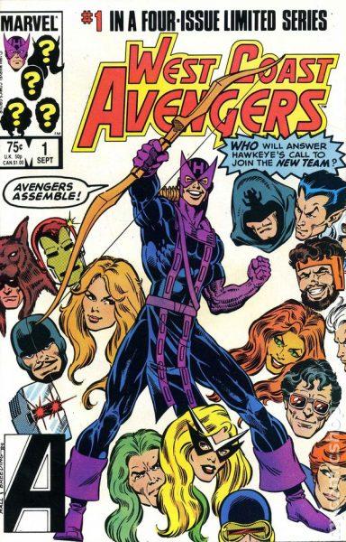 West Coast Avengers #1 - James Rhodes founding member