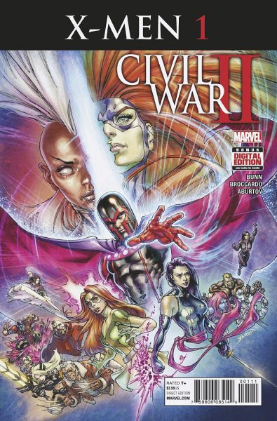 Civil War II X-Men #1 cover - mutants