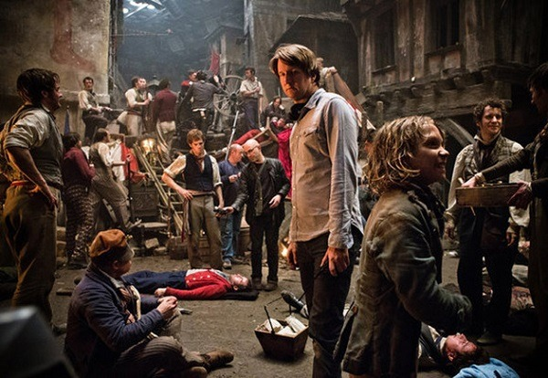 tom hooper filming les mis