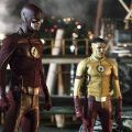 "The Flash -- ""Flashpoint "" -- Image: FLA301a_0110b.jpg -- Pictured (L-R): Grant Gustin as The Flash and Keiynan Lonsdale as Kid Flash -- Photo: Katie Yu/The CW -- © 2016 The CW Network, LLC. All rights reserved."