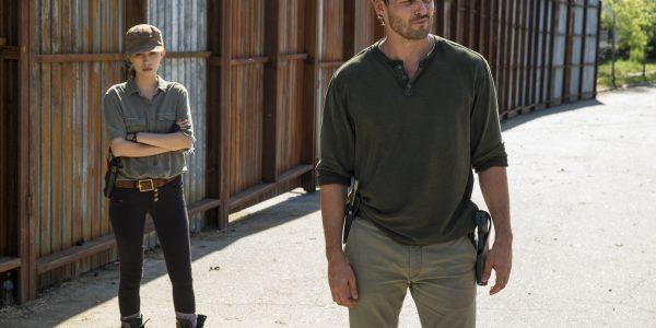 Austin Nichols as Spencer Monroe, Christian Serratos as Rosita Espinosa- The Walking Dead _ Season 7, Episode 4 - Photo Credit: Gene Page/AMC