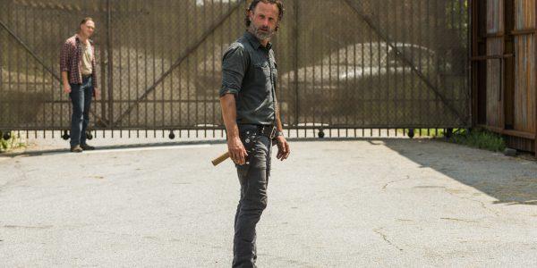 Andrew Lincoln as Rick Grimes, Jason Douglas as Tobin- The Walking Dead _ Season 7, Episode 9 - Photo Credit: Gene Page/AMC