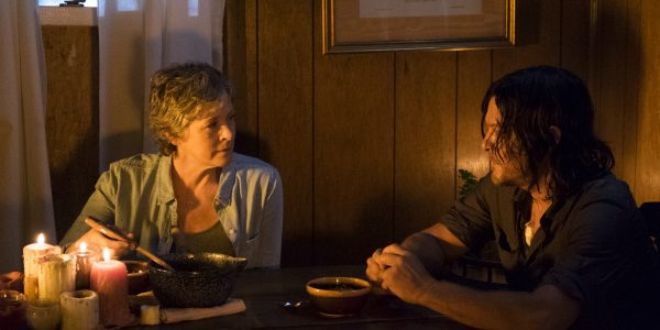 Norman Reedus as Daryl Dixon, Melissa McBride as Carol Peletier - The Walking Dead _ Season 7, Episode 10 - Photo Credit: Gene Page/AMC