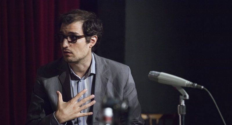"Louis Garrel as Jean-Luc Godard in ""Redoutable."""